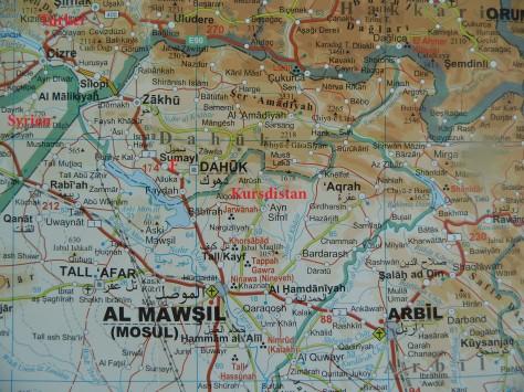 Kurdistan-Karte