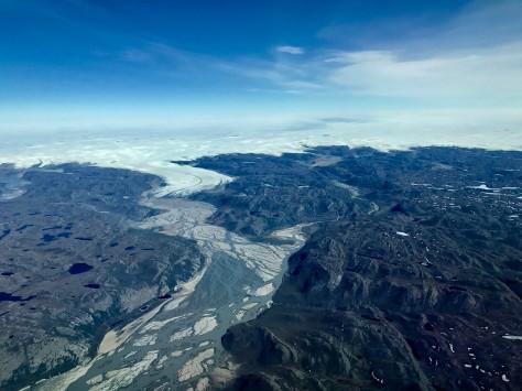Tag 3 Flug zum Eisbohrcamp - Blick aus dem Flugzeug